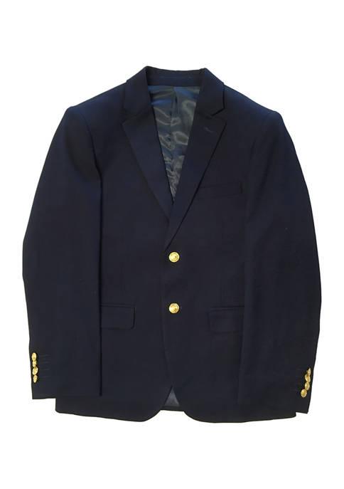 Boys 2-20 Navy Solid Jacket