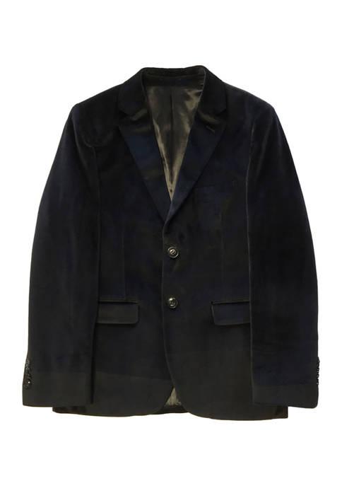 Boys 4-20 Black Velvet Jacket