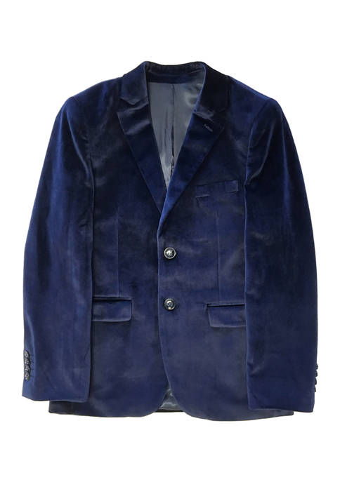 Perry Ellis® Portfolio Boys 4-20 Navy Velvet Jacket