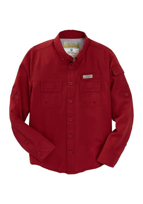 Boys 8-20 Long Sleeve Fishing Shirt