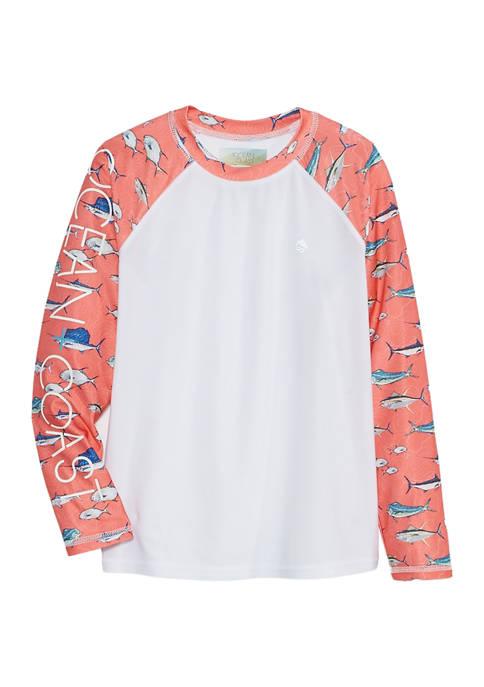 Ocean & Coast®: Boys 8-20 Long Sleeve Graphic Rash Guard! .40 (REG .00) at Belk!