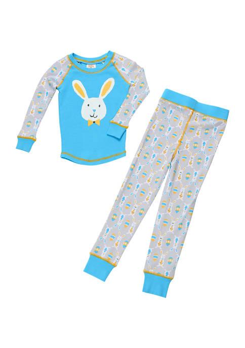 Munki Munki Boys 4-7 Wallpaper Bunnies Pajama Set