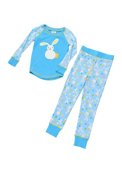 Munki Munki Boys 4-7 Floppy Bunnies Pajama Set