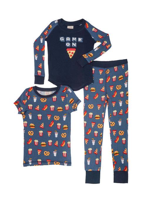 Boys 2-20 Game On 3-Piece Pajama Set