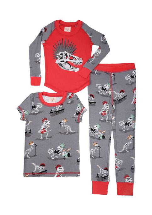Boys 2-20 Dino Bones 3-Piece Pajama Set