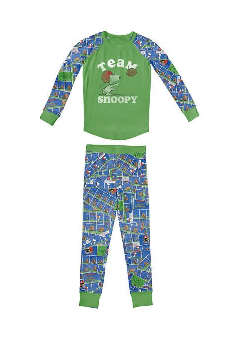 Boys 4-20 Tight Fit Raglan Pajama Set
