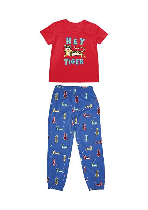 Nite Nite Boys 4-20 Hey Tiger Pajama Set