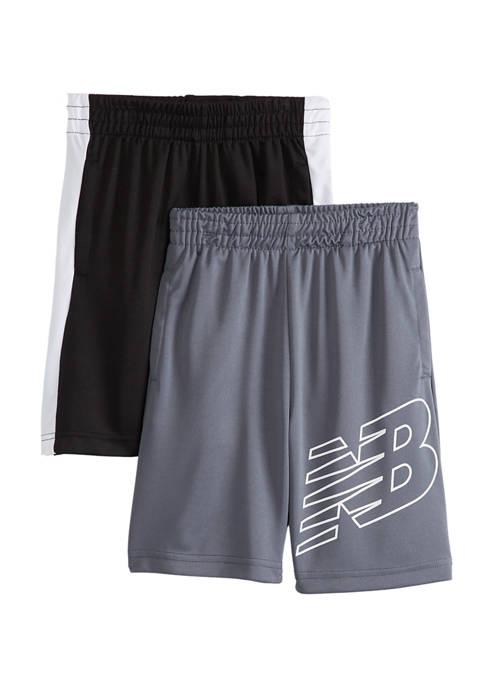 Boys 4-7 Mesh Jersey Shorts - 2 Pack