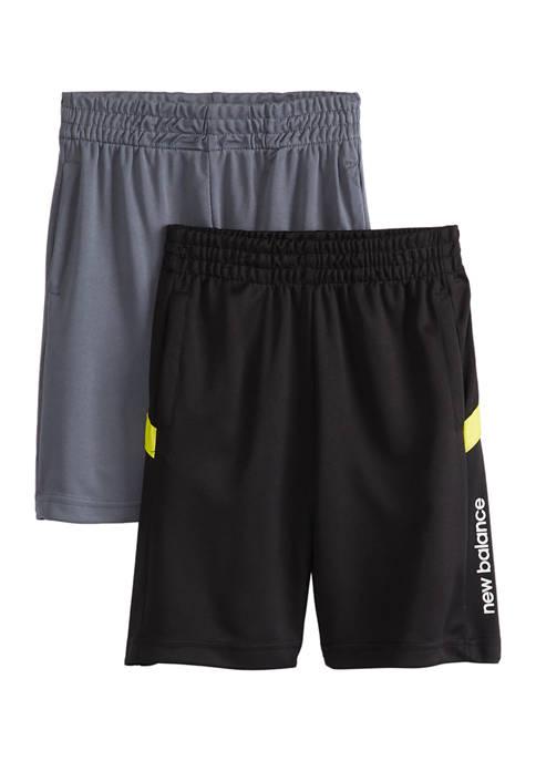 Boys 4-7 Side Logo Shorts - 2 Pack