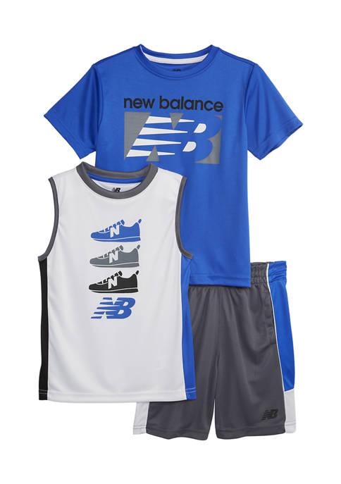 Boys 4-7 Active Shorts 3 Piece Set
