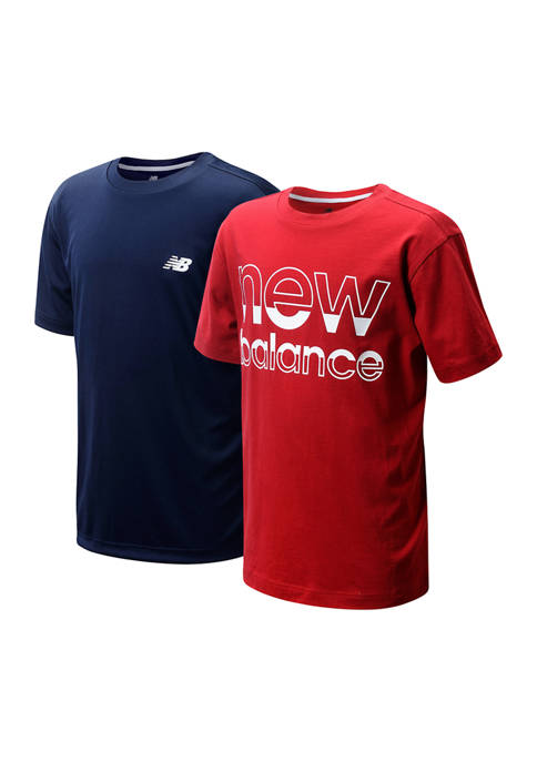 New Balance Boys 4-7 2 Pack Core Solid