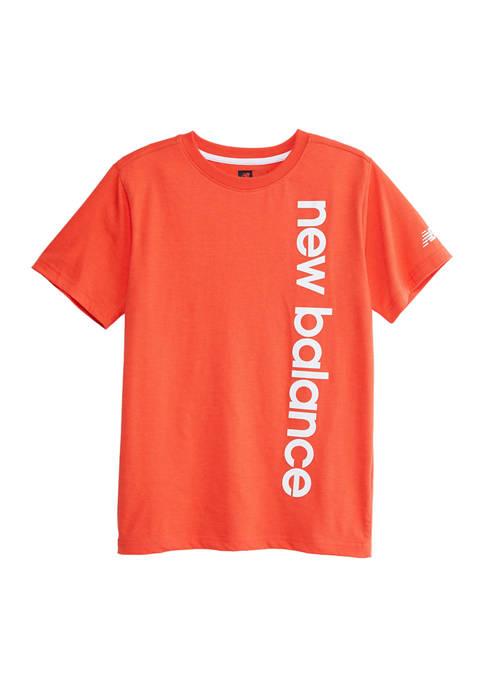 Boys 8-20 Short Sleeve Vertical Logo Graphic T-Shirt