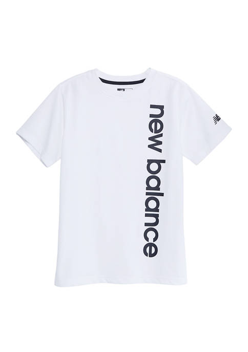 New Balance Boys 8-20 Short Sleeve Vertical Logo