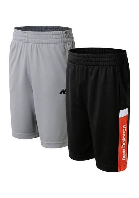 New Balance Boys 8-20 Mesh Jersey Shorts
