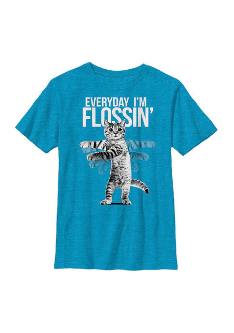 Fifth Sun™ Boys 8-20 Flossin Cat Graphic T-Shirt