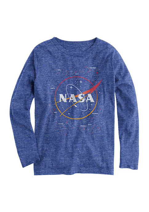 NASA Boys 8-20 Licensed Long Sleeve Graphic T-Shirt