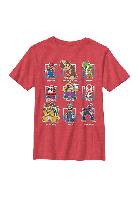 Boys 8-20 Super Mario Lineup Graphic T-Shirt