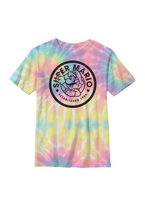 Nintendo Boys 8-20 Mario Circle Graphic T-Shirt