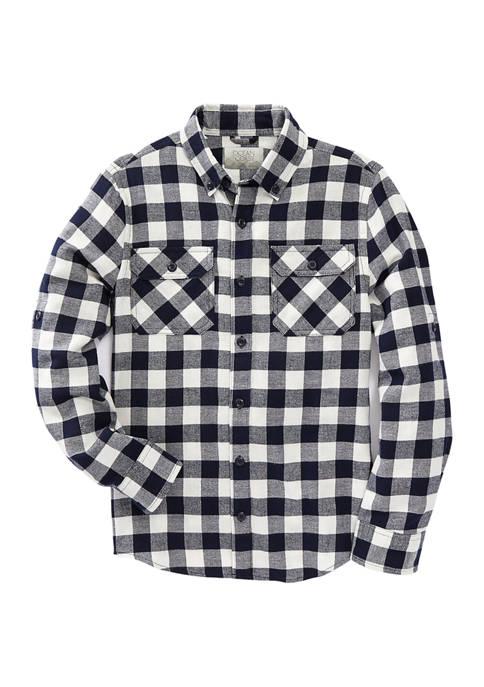 Ocean + Coast® Boy 8-20 Long Sleeve Flannel