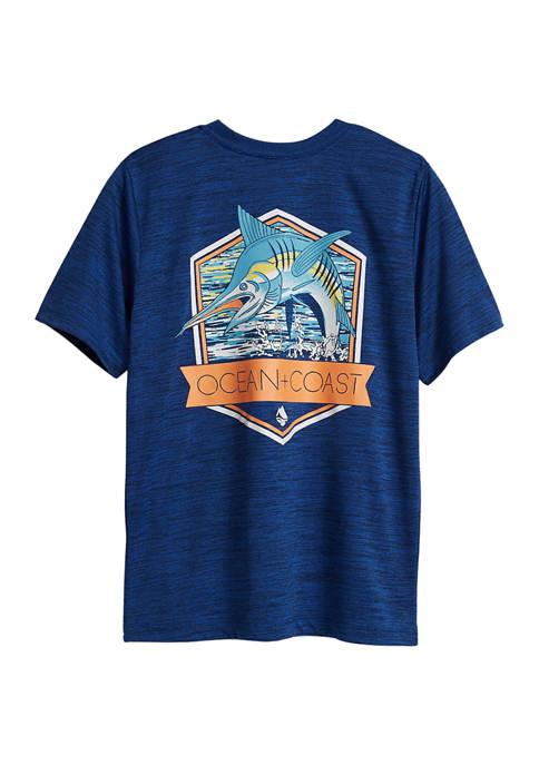 Ocean & Coast® Boys 8-20 Splashing Marlin Graphic