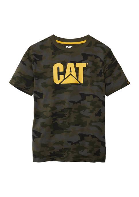 Caterpillar Boys 4-7 Camo Logo Graphic T-Shirt