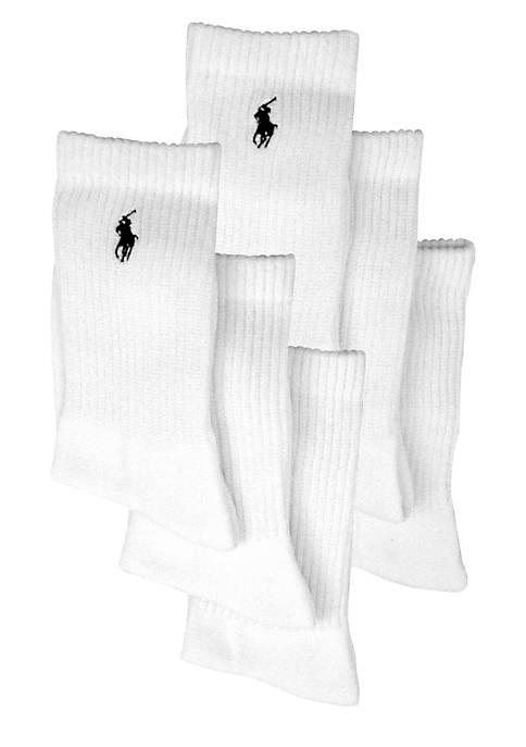 Ralph Lauren Childrenswear 6-Pack Polo Athletic Crew Socks
