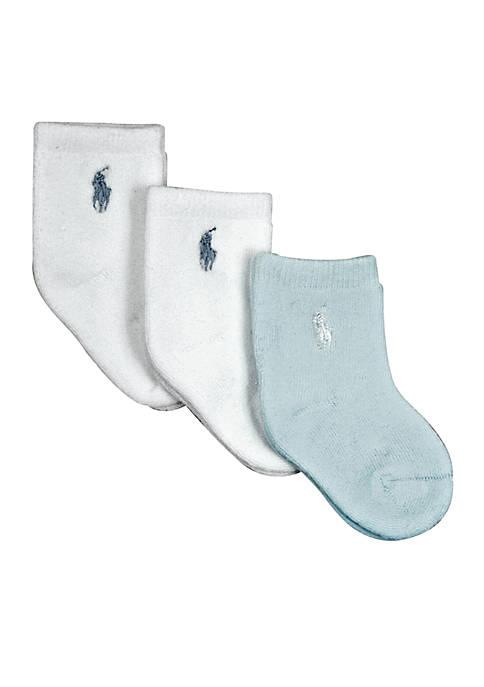 Ralph Lauren Childrenswear 3-Pack Terry Solid Socks