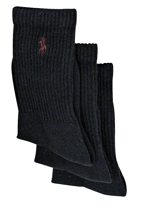 Ralph Lauren Childrenswear 3-Pack Classic Crew Socks Boys