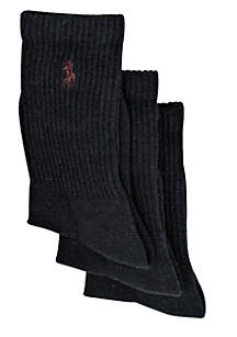 3-Pack Classic Crew Socks Boys 4-20