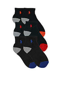 6-Pack Quarter Socks