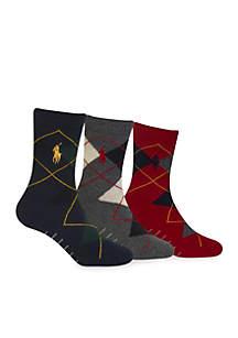 3-Pack Argyle Dress Socks Toddler Boys
