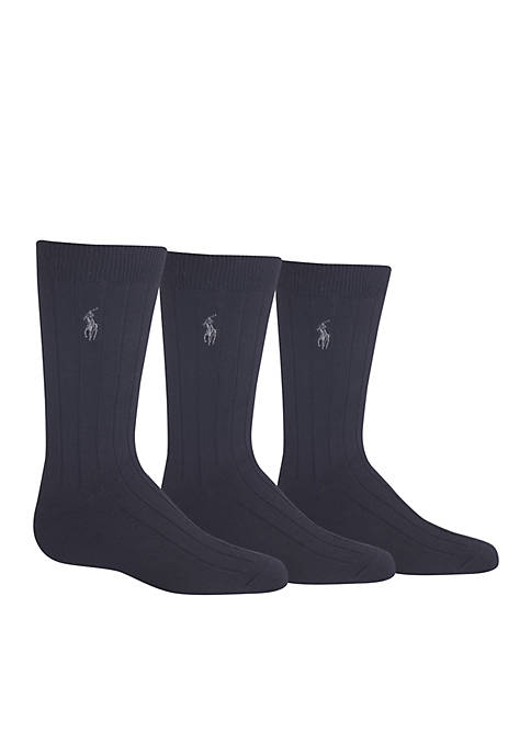 Ralph Lauren Childrenswear 3-Pack Supersoft Crew Socks