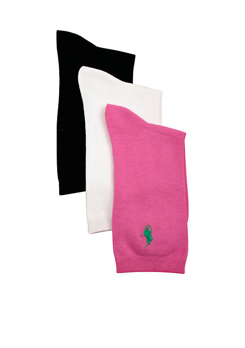 Ralph Lauren Childrenswear 3-Pack Flat Knit Socks Girls