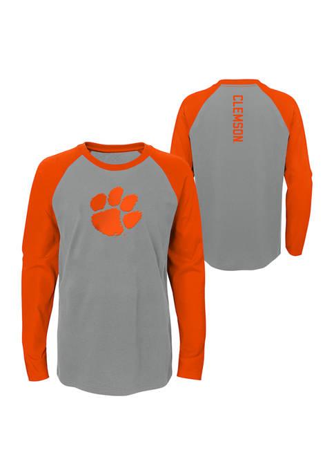 Boys 8-20 NCAA Clemson Tigers Undisputer Long Sleeve Crew Neck T-Shirt