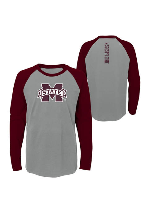 Boys 8-20 NCAA Mississippi State Bulldogs Undisputer Long Sleeve Crew Neck T-Shirt