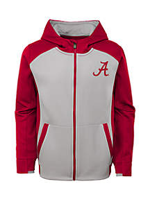 Boys 8-20 Alabama Crimson Tide High Tech Performance Full Zip Hoodie