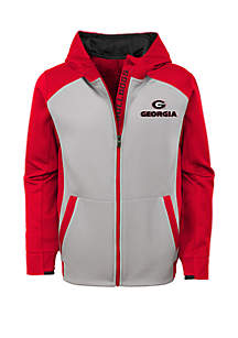 Boy's 8-20 Georgia Bulldogs High Tech Performance Full Zip Hoodie