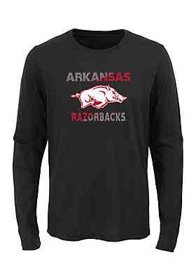 27e9b20ca9 Gen2 Boys 8-20 Long Sleeve Arkansas Razorbacks Team Tee ...