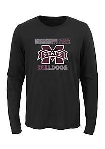 Boys 8-20 Long Sleeve Mississippi State Bulldogs Team Tee