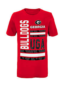 Boys 8-20 Georgia Bulldogs D-Line Short Sleeve Tee