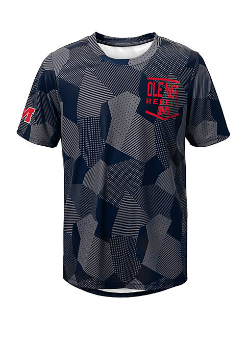 Boys 8-20 NCAA Ole Miss Rebels Stadium Sublimated Dri Tek T-Shirt