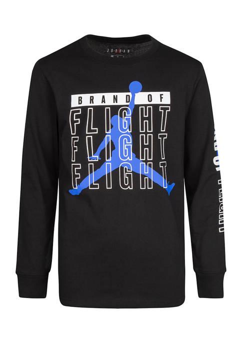 Nike® Boys 8-20 Flight Rise Long Sleeve T-Shirt