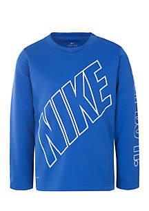 Nike® Boys 4-7 Block On My Level Dri-Fit Thermal Tee