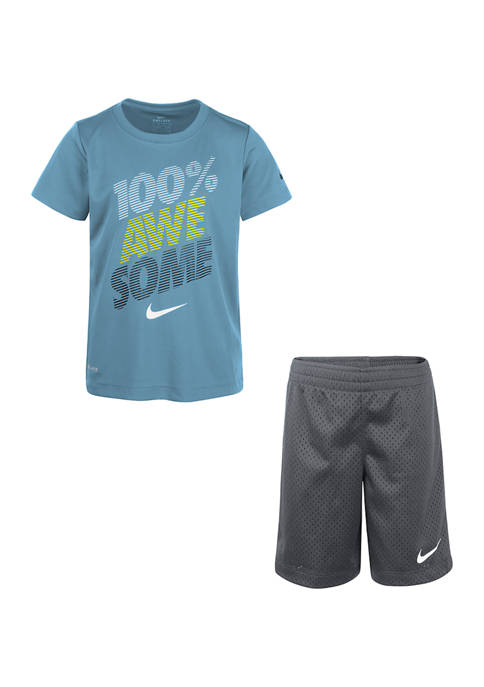 Nike® Boys 4-7 Short Sleeve Awesome Set