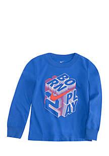 Boys 4 - 7 Born 3 Play Block Print Long Sleeve Pullover Crew Sweatshirt