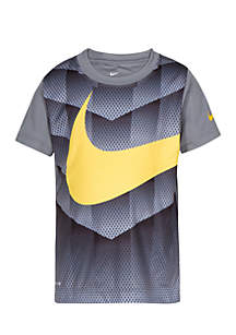 Boys 4-7 Dri-FIT Shield Swoosh Short Sleeve T-Shirt