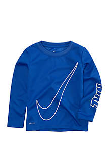 Boys 4-7 Dri-FIT Oversize Swoosh Thermal Long Sleeve T-Shirt