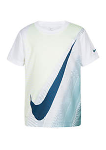 Boys 4-7 Dri-Fit Short Sleeve Swoosh Dots T-shirt