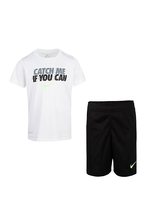 Nike® Boys 4-7 Catch Me Short Sleeve Tee