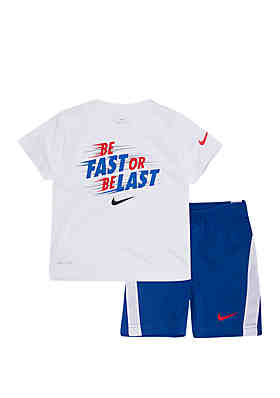 ea1af4d42 Nike® Boys 4-7 Dri-Fit Be Fast Short Sleeve Tee and Short ...